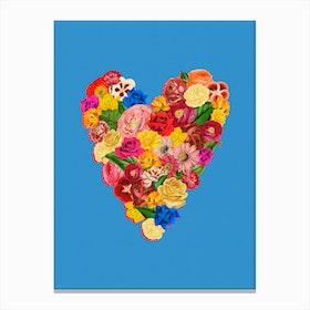 Heart Floral Canvas Print
