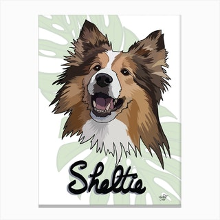 Sheltie Dog Canvas Print