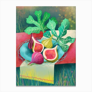 Figs In A Garden Canvas Print