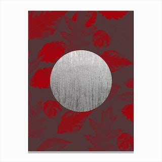 Silver Moon Red Canvas Print