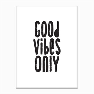Good Vibes Only Pixy Group Canvas Print