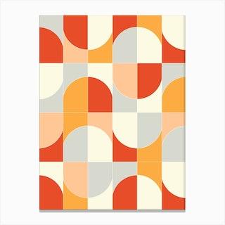 Bold Geo Tiles 02 Canvas Print