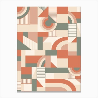 Earthy Blocks Canvas Print