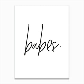 Babes Canvas Print