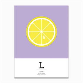 The Food Alphabet – L Canvas Print