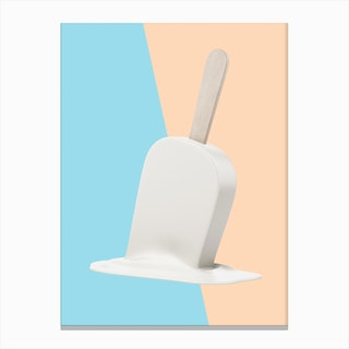 Melting Marshmellow Popsicle Canvas Print