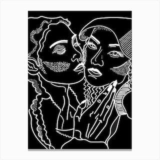 Goddess Black And White Canvas Print