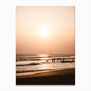 Sunset Beach 1 Canvas Print