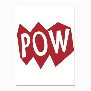 POW Red Canvas Print