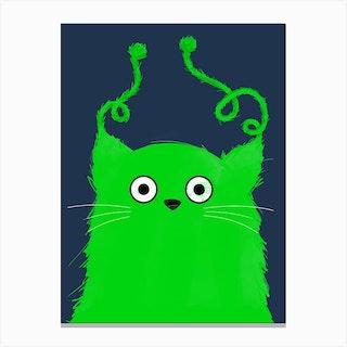Cat Alien Canvas Print