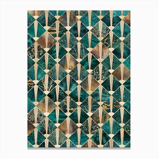 Art Deco Tiles - Ocean Canvas Print