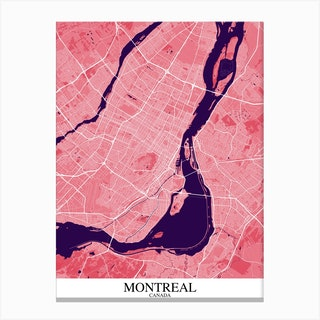 Montreal Pink Purple Canvas Print