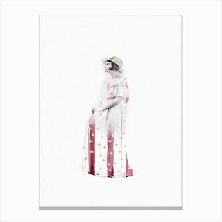 Vintage Lady  Fashion Canvas Print