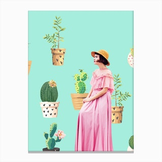 Lady Love In Canvas Print
