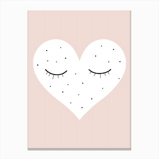 Sleepy Heart Rosé Canvas Print