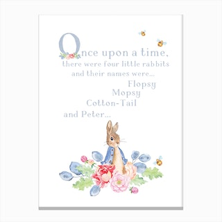 Peter Rabbit Story Canvas Print