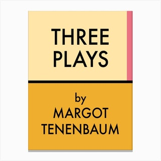 Three Plays Margot Tenembaum Canvas Print