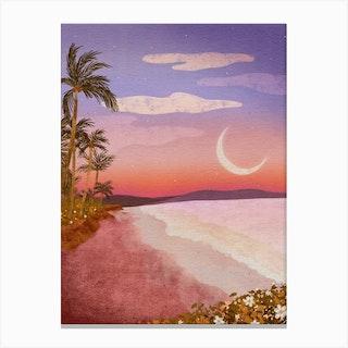 Beach Moon Canvas Print