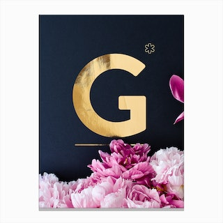 Flower Alphabet G Canvas Print