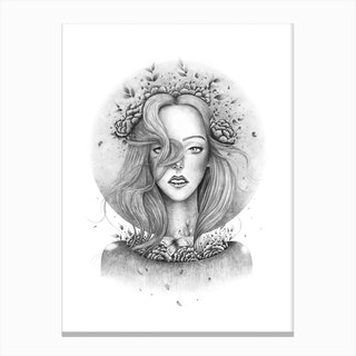Blooming Girl Canvas Print