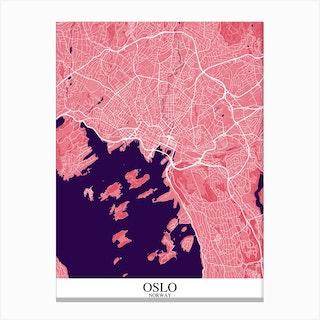 Oslo Pink Purple Canvas Print