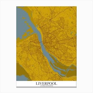 Liverpool Yellow Blue Canvas Print
