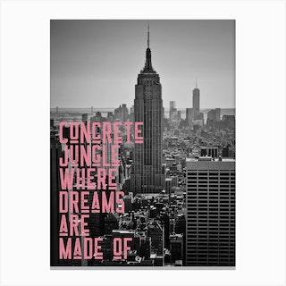 New York Lyrics Canvas Print