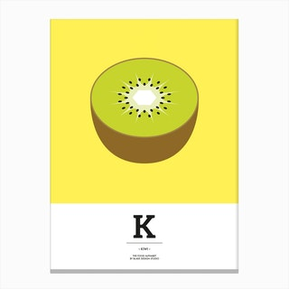 The Food Alphabet – K Canvas Print
