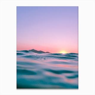 The Waves The Sun The Sky Canvas Print