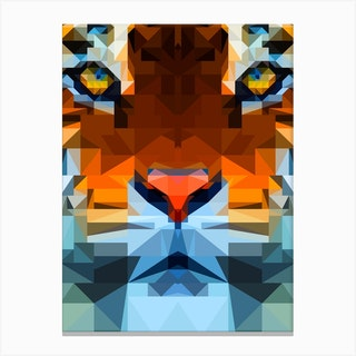 Tiger Geo Canvas Print