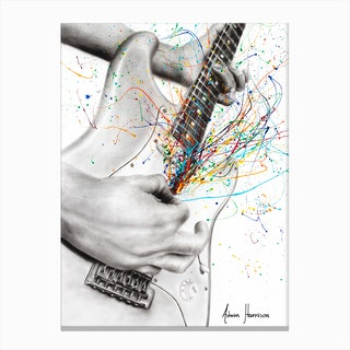 The Guitar Solo Canvas Print