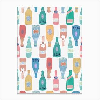 Champagne Wine Bottle Canvas Print
