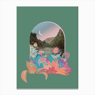 Fancy Land Sage Green Canvas Print