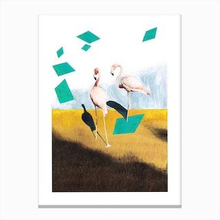 Be Beautiful Flamingo Canvas Print