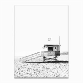 Watch Tower BW Canvas Print