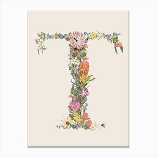 T Oat Alphabet Letter Canvas Print
