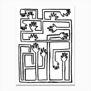 Hand Salad Canvas Print
