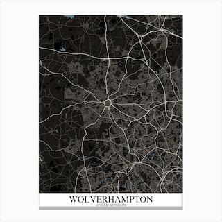 Wolverhampton Black Blue Canvas Print