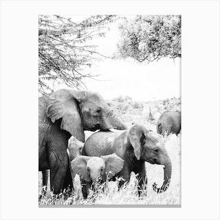 Kenya Elephants Canvas Print