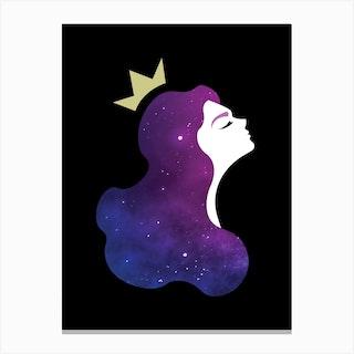 Galaxy Princess Canvas Print