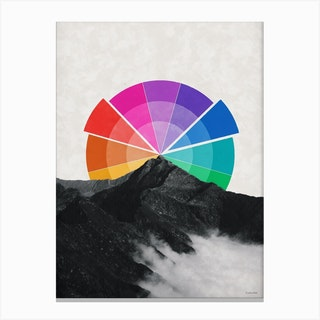 All The Colors Behind The Mountain Canvas Print