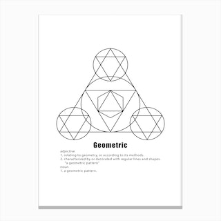 Three Points Geometric Meaning Canvas Print