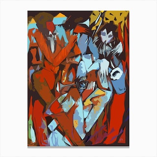 Trumpet Triplet Abstract Canvas Print