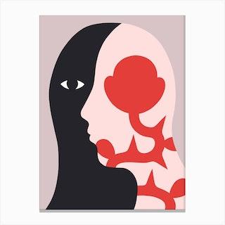 Profil Fleuri Canvas Print