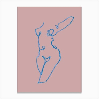 Pink Nude Canvas Print