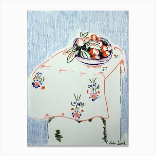 Matisse Inspired Still Life Canvas Print