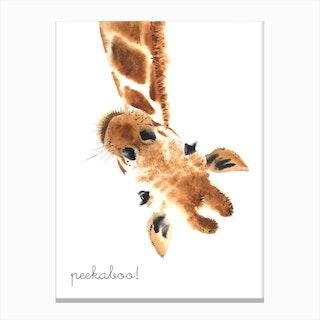 Peekaboo Giraffe Canvas Print