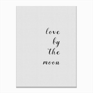 Love By The Moon Canvas Print
