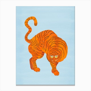Tiger Blue Canvas Print