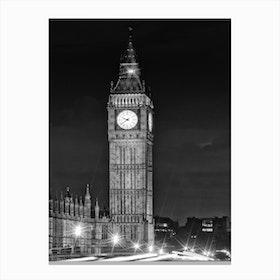 London Elizabeth Tower Canvas Print